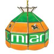 Trademark Global University of Miami 16 Inch Handmade Tiffany Style Lamp, Sebastian (MIA1600-SEB)