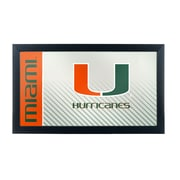 Trademark Global University of Miami Hurricanes Framed Logo Mirror, Text (MIA1500-TXT)