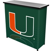 Trademark Global University of Miami Portable Bar with Case, Reflection (MIA8000-REF)