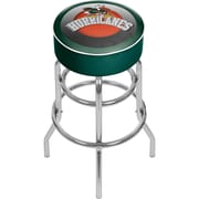 "Trademark Global University of Miami Sebastian Chrome Bar Stool with Swivel, 31"", Honeycomb (MIA1000-HC)"