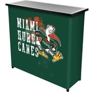 Trademark Global University of Miami Sebastian Portable Bar with Case, Smoke (MIA8000-SMOKE)