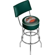 "Trademark Global 41.75""H University of Miami Sebastian Swivel Bar Stool with Back, Honeycomb (MIA1100-HC)"