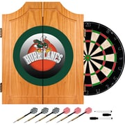 Trademark Global University of Miami Sebastian Wood Dart Cabinet Set, Honeycomb (MIA7000-HC)