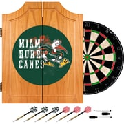 Trademark Global University of Miami Sebastian Wood Dart Cabinet Set, Smoke (MIA7000-SMOKE)