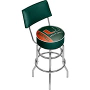 "Trademark Global University of Miami Swivel Bar Stool with Back, Text, 41.75"" (MIA1100-TXT)"