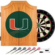Trademark Global University of Miami Wood Dart Cabinet Set, Reflection (MIA7000-REF)