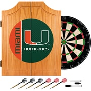 Trademark Global University of Miami Wood Dart Cabinet Set, Text (MIA7000-TXT)