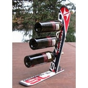 Ski Chair Snow 3 Bottle Tabletop Wine Rack; Blizzard