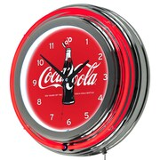 Trademark Global Coca-Cola Retro Neon Clock, 100th Anniversary of the Coca-Cola Bottle (COKE-1400-V100)