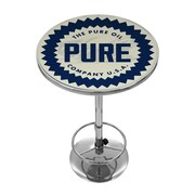 Trademark Global Pure Oil Chrome Pub Table, Wordmark (AR2000-PURE-W)