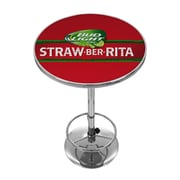 Trademark Global Bud Light Straw-Ber-Rita Chrome Pub Table (AB2000-SBR)
