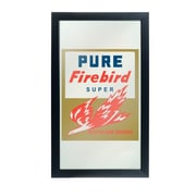 Trademark Global Pure Oil Framed Logo Mirror, Firebird (AR1500-PURE)