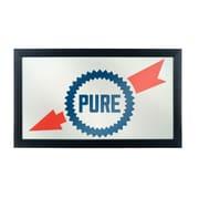 Trademark Global Pure Oil Framed Logo Mirror, Wordmark (AR1500-PURE-W)