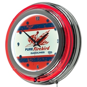 Trademark Global Pure Oil Chrome Double Rung Neon Clock, Vintage (AR1400-PURE-V)