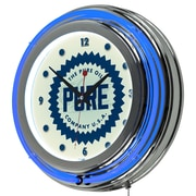 Trademark Global Pure Oil Chrome Double-Rung Neon Clock, Wordmark (AR1400-PURE-W)