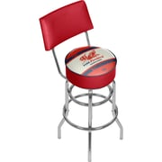 "Trademark Global Pure Oil Swivel Bar Stool with Back, Vintage, 41.75"" (AR1100-PURE-V)"
