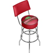 "Trademark Global 41.75"" Bud Light Straw-Ber-Rita Swivel Bar Stool with Back (AB1100-SBR)"
