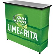 Trademark Global Bud Light Lime-A-Rita 2 Shelf Portable Bar with Case (AB8000-LAR)