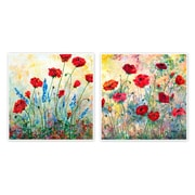 PTM Images Red Roses 2 Piece Painting Print Plaque Set on Laminate Boxes
