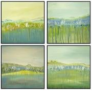 PTM Images Landscape 4 piece Quadriptych Painting Print Plaque Set