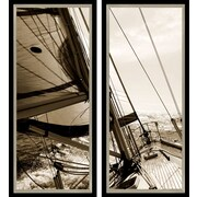 PTM Images Sailboat 2 Piece Diptych Framed Photographic Print Set