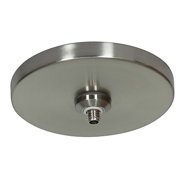 Access Lighting UniJack 1 Light Low Profile Mono Pod Canopy; Brushed Steel