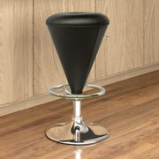 CorLiving Adjustable Height Swivel Bar Stool with Cushion; Black