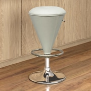 CorLiving Adjustable Height Swivel Bar Stool with Cushion; White