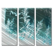 All My Walls 'Flora' by Stephanie Kriza 3 Piece Painting Print Plaque Set