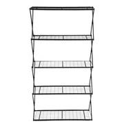 Flowerhouse Exy 64'' 5 Shelf Shelving Unit; Black