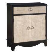 Coast to Coast Imports 2 Door 1 Drawer Cabinet; Kayan Black/Ivory