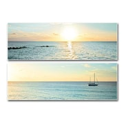 PTM Images Bimini Horizon 2 Piece Box Photographic Print on Laminate Set