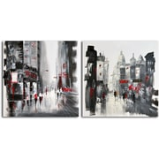 Omax Decor Two Sides of the Same City' 2 Piece Painting on Canvas Set