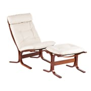 Wildon Home   Bently Chair and Ottoman; Vanilla