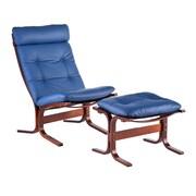 Wildon Home   Bently Chair and Ottoman; Royal Blue