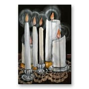 All My Walls 'Candle Choir' by Elaine Hodges Painting Print Plaque