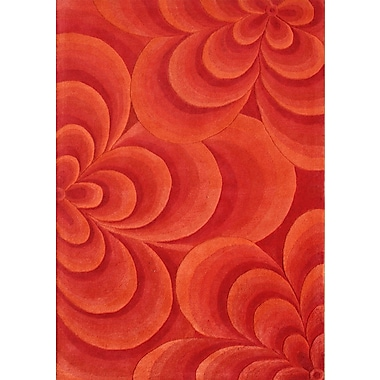 James Bond Alliyah Flowers Red Area Rug