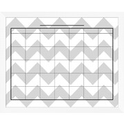 PTM Images Elliott Framed Wall Mounted Calendar/Planner Glass Board, 2' x 2'
