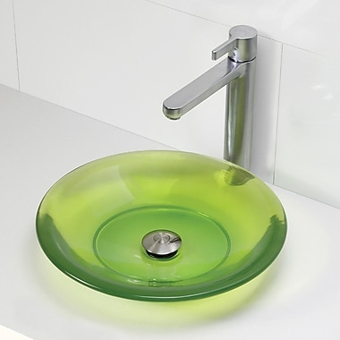 DecoLav Incandescence Round Vessel Bathroom Sink; Absinthe