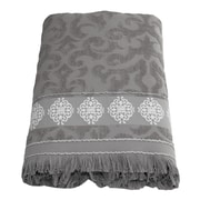 Linum Home Textiles Aegean ''Fringe'' Bath Sheet; Gray