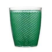 Kraftware Fishnet 14 Oz. Everyday Tumbler (Set of 4); Emerald