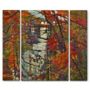 All My Walls 'Creek View 2' by Kip Decker 3 Piece Painting Print Plaque Set
