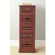 Safavieh Sarina 5 Drawer Cabinet; Red