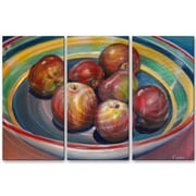 All My Walls 'Them Apples' by Jennifer Lycke 3 Piece Painting Print Plaque Set