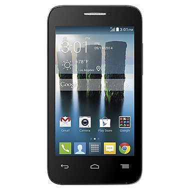 Alcatel OneTouch Evolve 2 (4037T) Factory Unlocked Smartphone, Refurbished Black, English