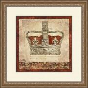 PTM Images Crown 2 Piece Framed Painting Print Set