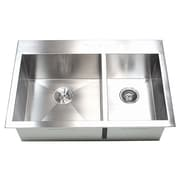 eModern Decor 33'' x 22'' Double Bowl Kitchen Sink