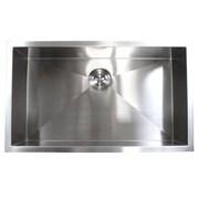 eModern Decor 32'' x 19'' Single Bowl Undermount Kitchen Sink
