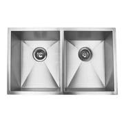 eModern Decor 32'' x 19'' Double Bowl Undermount Kitchen Sink