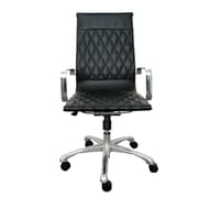 Woodstock Marketing Annie High-Back Executive Chair with Arms; Black